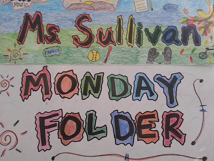teacher monday folder